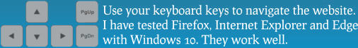 Use your keyboard keys to navigate the website. I have tested Firefox, Internet Explorer and Edge with Windows 10. They work well.